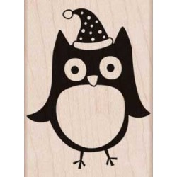 Timbro legno Hero Arts - Christmas Owl
