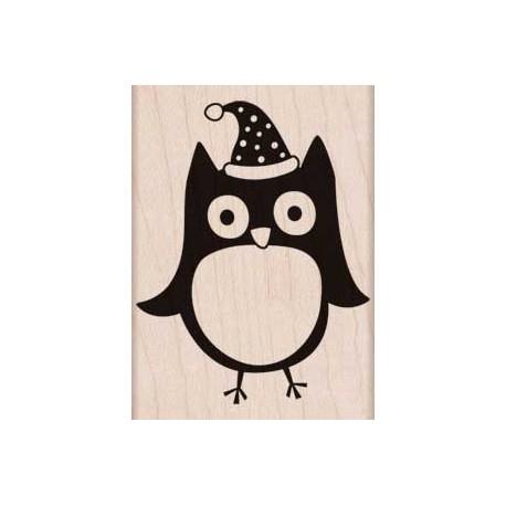 Timbro legno Hero Arts - Christmas Owl