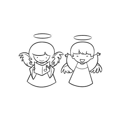 Timbro legno Impronte D'Autore - angeli