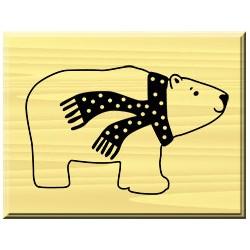 Timbro in legno Artemio - Ours polaire