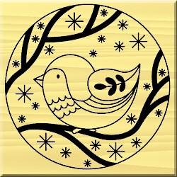 Timbro in legno Artemio - Oiseau russe