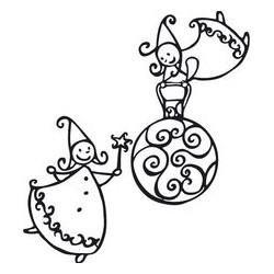 Timbro Legno Aladine - Slitta con Renne