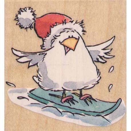 Timbro legno Penny Black - Snow-board ride