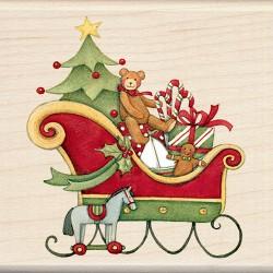 Timbro legno Inkadinkado - Santa's Sleight