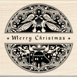 Timbro legno Inkadinkado - Mindscape Merry Christmas Clearance