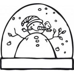 Timbro Legno Aladine - pupazzo palla