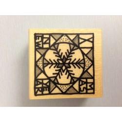 Timbro legno Impronte D'Autore - Fiocco di neve arte