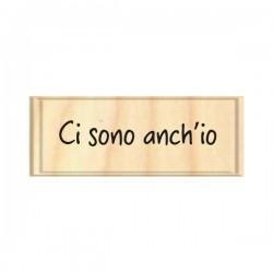 Timbro legno Safira - Ci sono anch'io