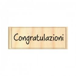 Timbro legno Safira - congratulazioni