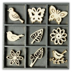 Abbellimenti in legno Cart-Us - Floreale Raffinato