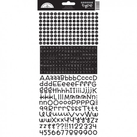 Alfabeto Stickers Doodlebug Design - beetle black