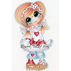 Timbro Clear Sherri Baldy - Sweetheart Bestie