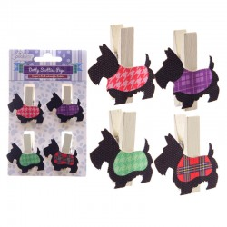 Mollette Puckator - Dotty Scotties Pegs - Cani