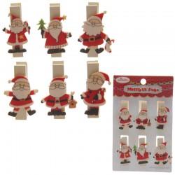 Mollette Puckator - Merry Ut Pegs - Babbo Natale