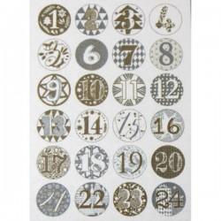 Bottoni Rico Design in metallo - Calendario Avvento oro/argento