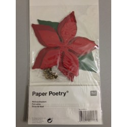 Fiore Poinsettia Paper Poetry
