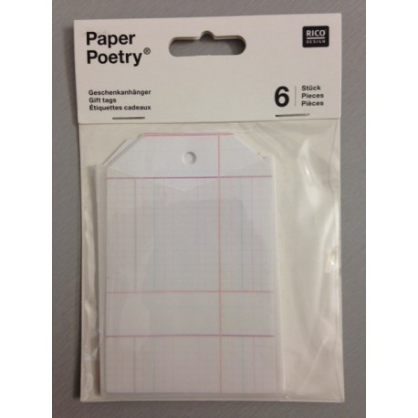 Kit Tags Paper Poetry Rico Design - Gift Tags With Bag Squared