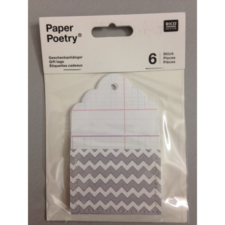 Kit Tags Paper Poetry Rico Design - Gift Tags With Bag Ornament