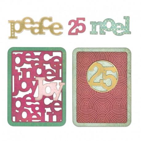 Fustella Sizzix Thinlits - Christmas Phrase Cards