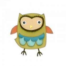 Fustella Sizzix Thinlits - Owl