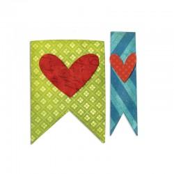 Fustella Sizzix Bigz - Banners & Hearts
