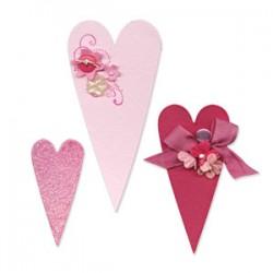 Fustella Sizzix Bigz - Hearts, Primitive