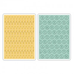 Embossing Folder - Arrows & Typewriter Keys