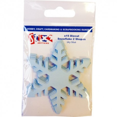Fiocchi di neve in carta Stix2 - Sky Blue 2