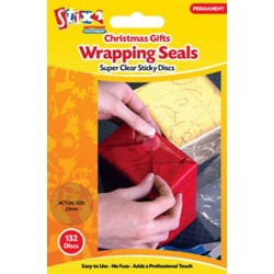 Adesivi tondi Stix2- Christmas gift Wrapping Seals