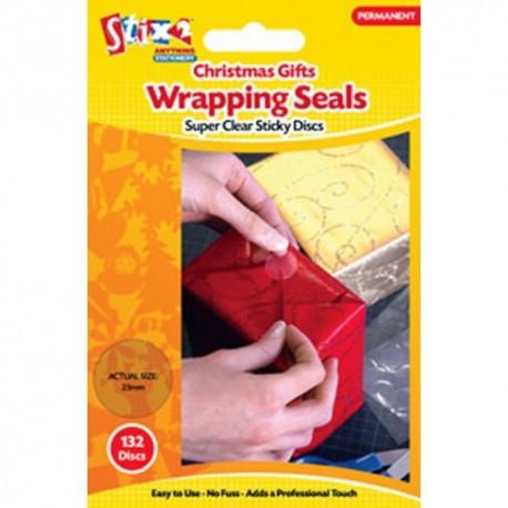 Adesivi tondi Stix2- Christmas gift Wrapping Seals
