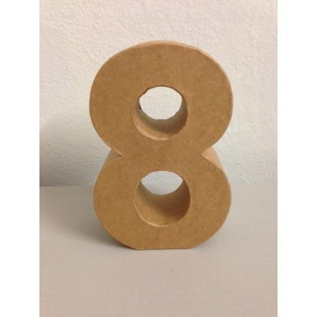 Numero in Cartone Glorex - 8