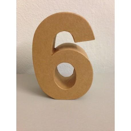 Numero in Cartone Glorex - 6