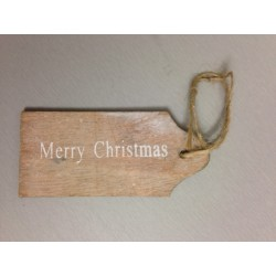 Tag in legno da appendere - Merry Christmas