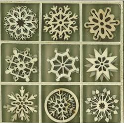 Abbellimenti in legno Artemio - Fiocchi di Neve