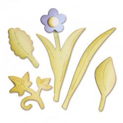 Fustella Sizzix Bigz - Leaves, Bouquet