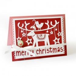 Fustella Sizzix Thinlits - Merry Christmas