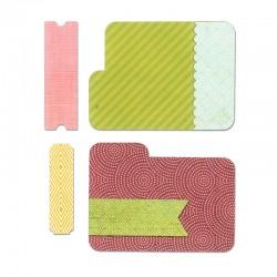 Fustella Sizzix Framelits - Tab Cards