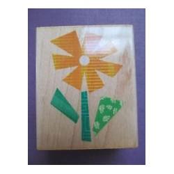 Timbro legno Hero Arts - Fabric Windmill Flower