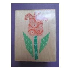 Timbro legno Hero Arts - fabric tulip