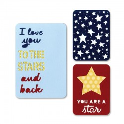 Fustella Sizzix Thinlits - Stars