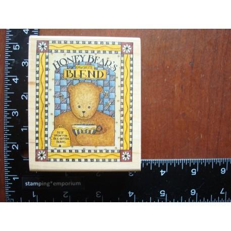 Timbro Legno Debbie Mumm - Honey Bear