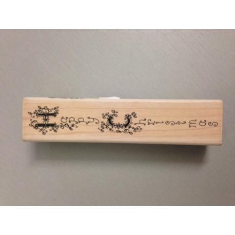 Timbro Legno Inca Stamp - Vertical Holly Christmas