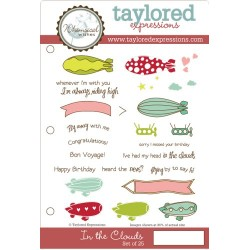 Timbri Cling Taylored Expressions - in the clouds