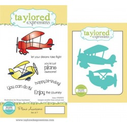 Timbro con Fustella Taylored Expressions - Plane Awesome