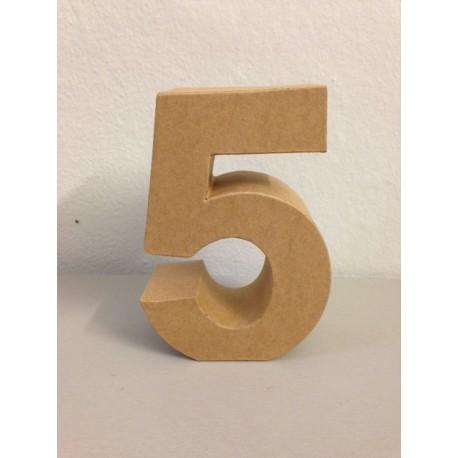 Numero in Cartone Glorex - 5