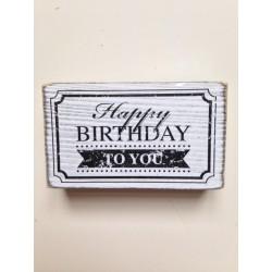 Timbro Legno Artemio - Happy Birthday