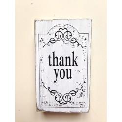 Timbro Legno Artemio -Thank You