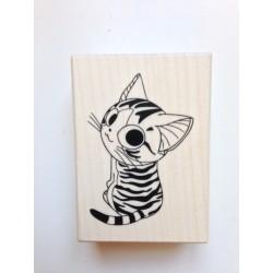 Timbro in legno Artemio - Gatto Tigrato