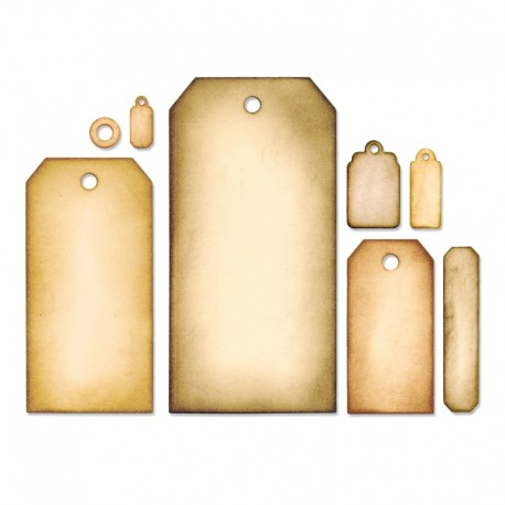 Fustella Sizzix Framelits - Tag Collection