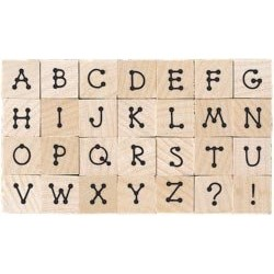 Timbro legno Hero Arts - Tiny Dot Letters